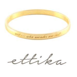 EUC Ettika Engraved Gold Bangle